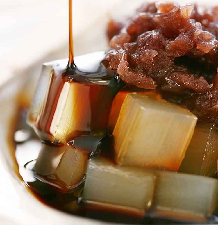 沖縄産黒糖100%黒蜜 北海道産小豆の小豆餡