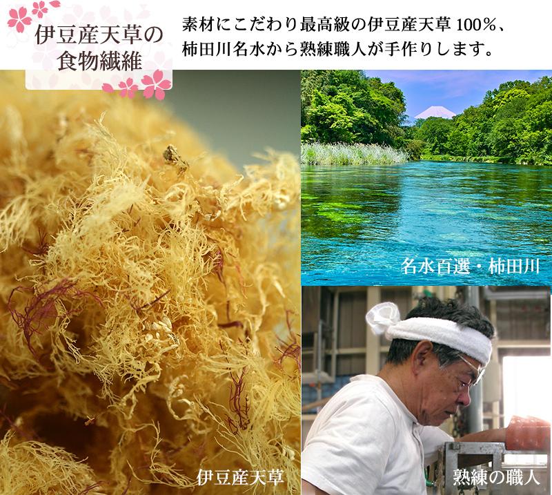 伊豆産天草の食物繊維
