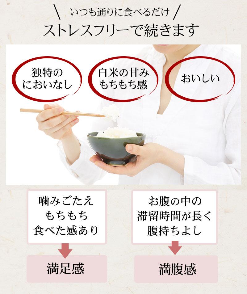 こんにゃく米はリピーター多数!ストレスフリーで続きます